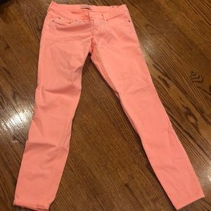 Express coral slim fit jeans